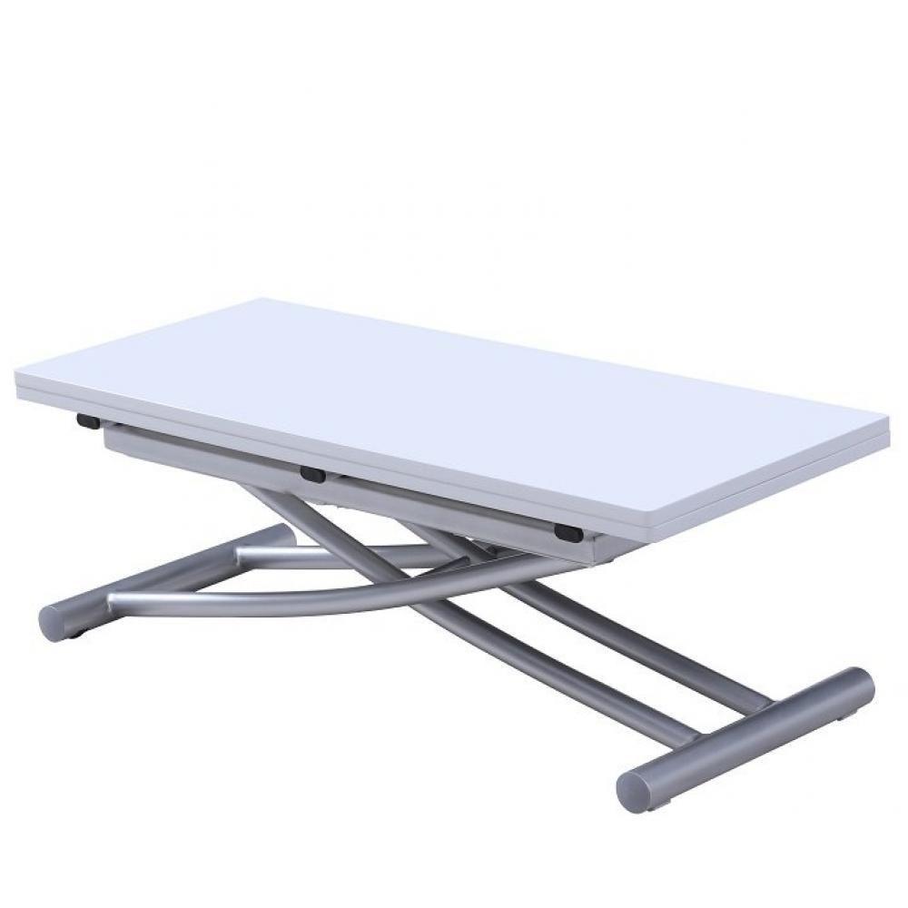 Inside 75 Table relevable extensible COLIBRI ultra compacte laquée blanc 100*45 cm