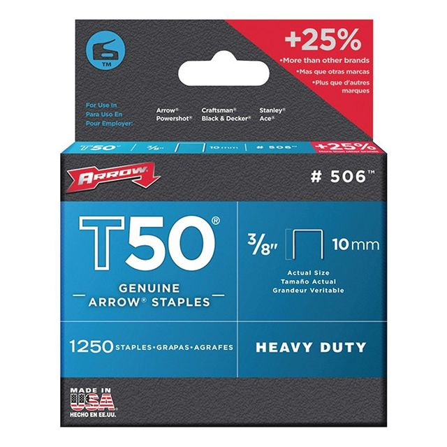 Arrow - arrow - lot de 1250 agrafes t50 10mm - 506 - Agrafeuses