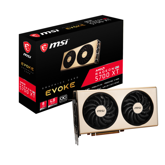 Msi - Radeon RX 5700 XT - EVOKE OC Version 2 - 8 Go - Carte Graphique AMD