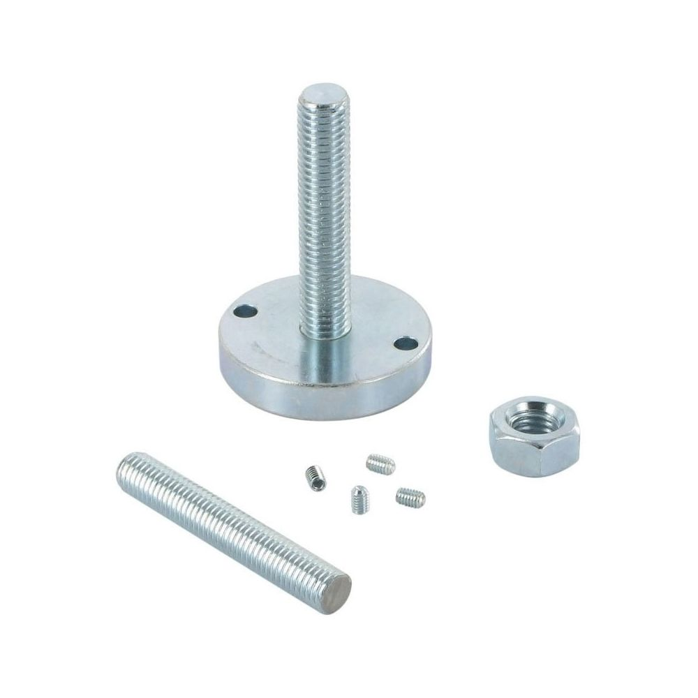 Vibo Fixations haute et basse pour colonne vibo - Diamètre : 50 mm - Matériau : Acier - Décor : Chromé - Pour tube de diamètr