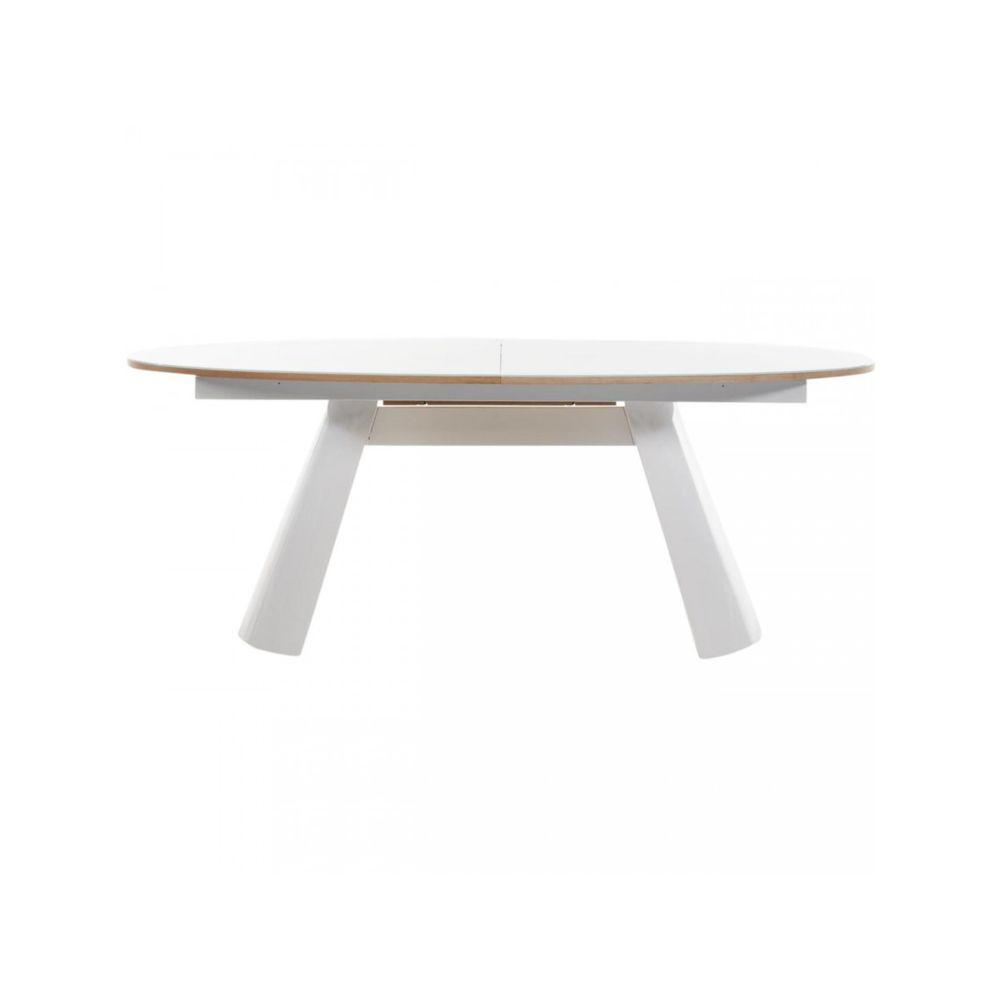 Bobochic BOBOCHIC Table de repas ovale CALVIN Chêne et Blanc