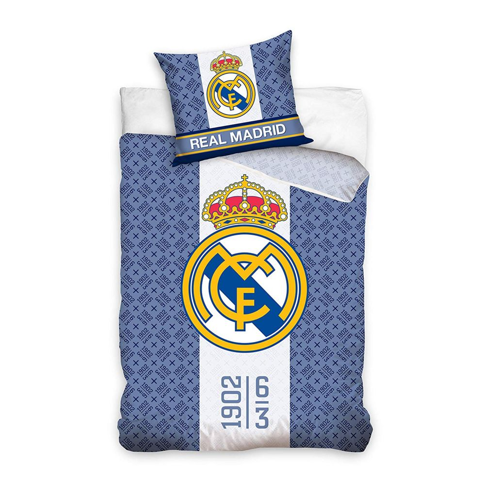 Bebe Gavroche Parure de lit Real Madrid 100% coton 140 x 200 cm