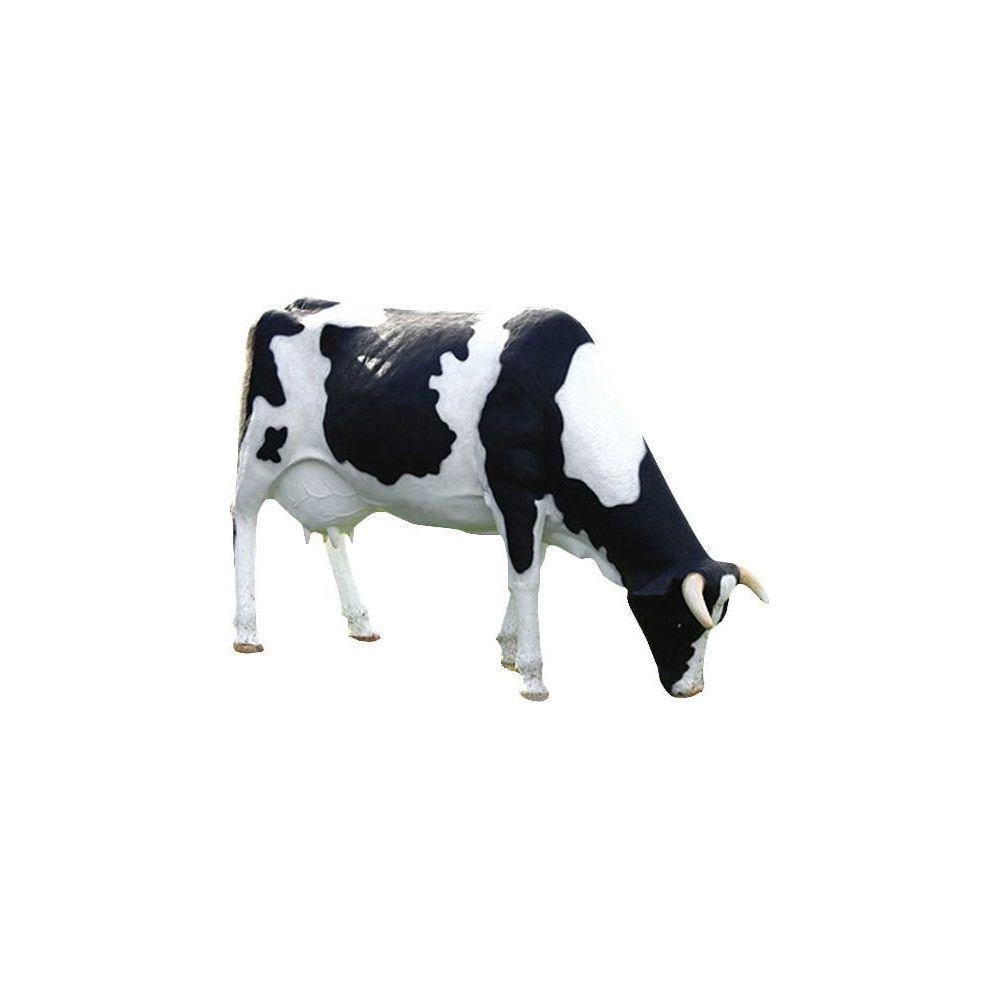 Texartes Vache tachetée tête basse en résine 210 cm