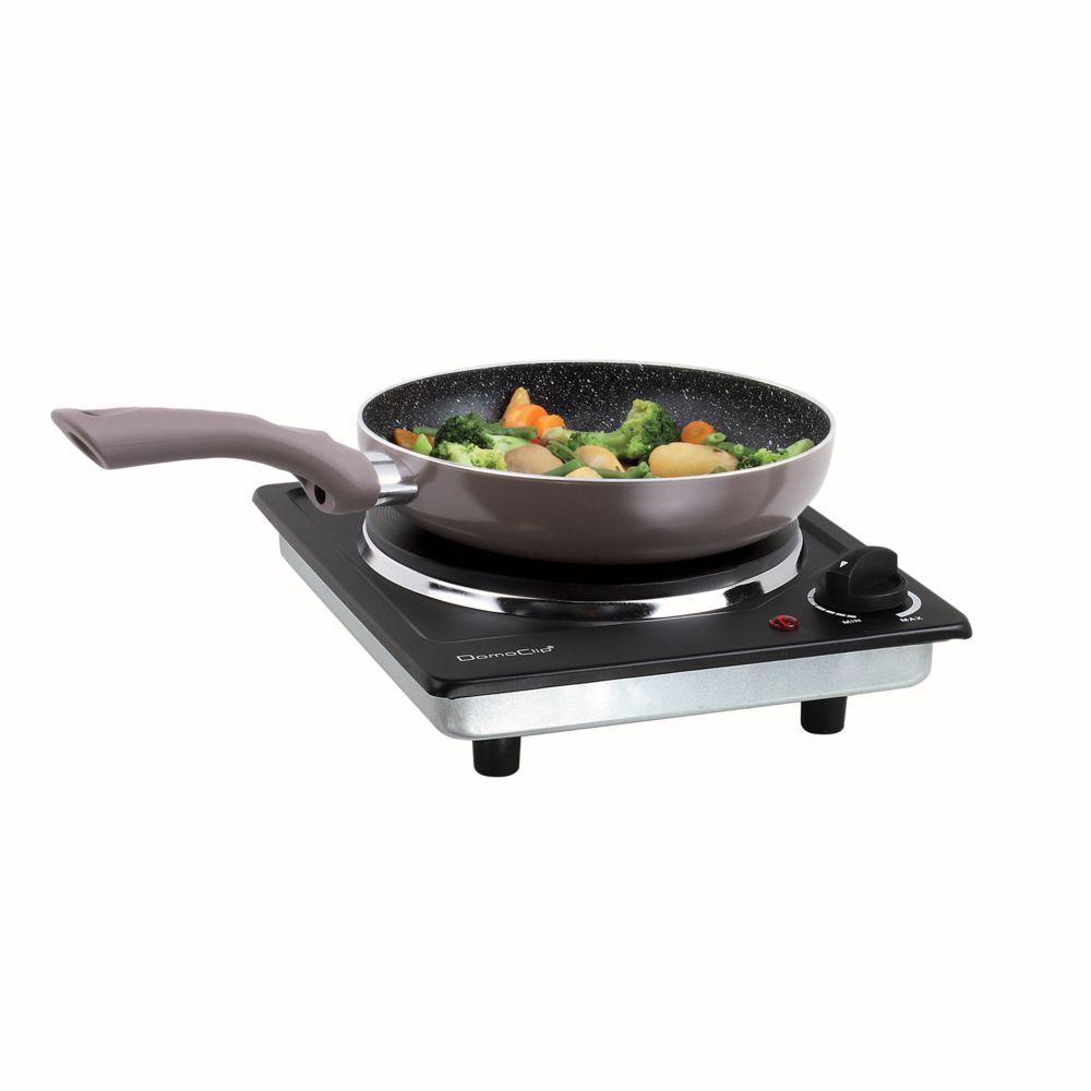 Domoclip Plaque de cuisson électrique noire DOC167N