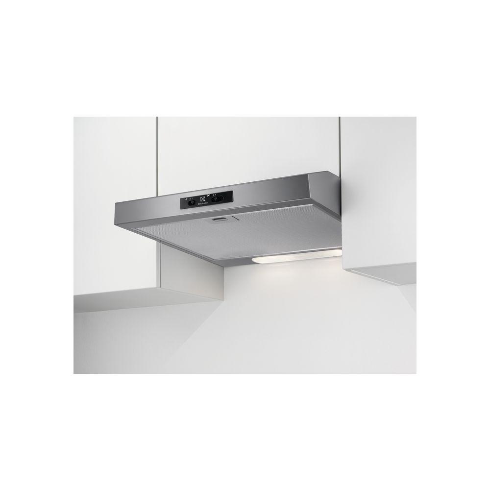 Electrolux electrolux - hotte visière 60cm 272m3/h gris - efu216s