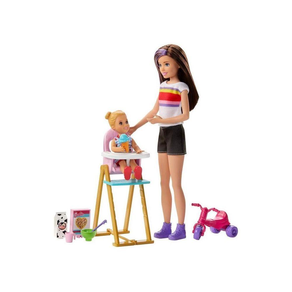 Barbie BARBIE Skipper Babysitter Heure du Repas - GHV87 - Coffret Poupée Mannequin - 3 ans et +