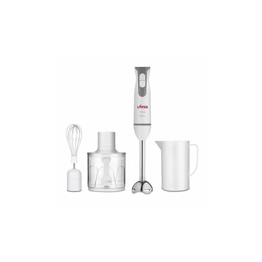 Totalcadeau Mixeur plongeant en acier inoxydable 600W Blanco - Mixer aliments avec Fonction turbo pour soupe