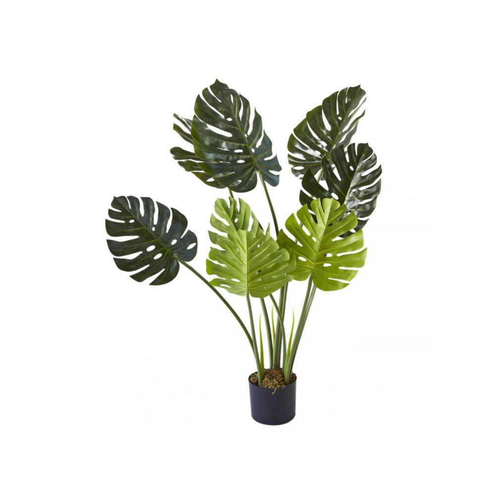 Bobochic BOBOCHIC Plante artificielle OLLA 8 feuilles et pot noir