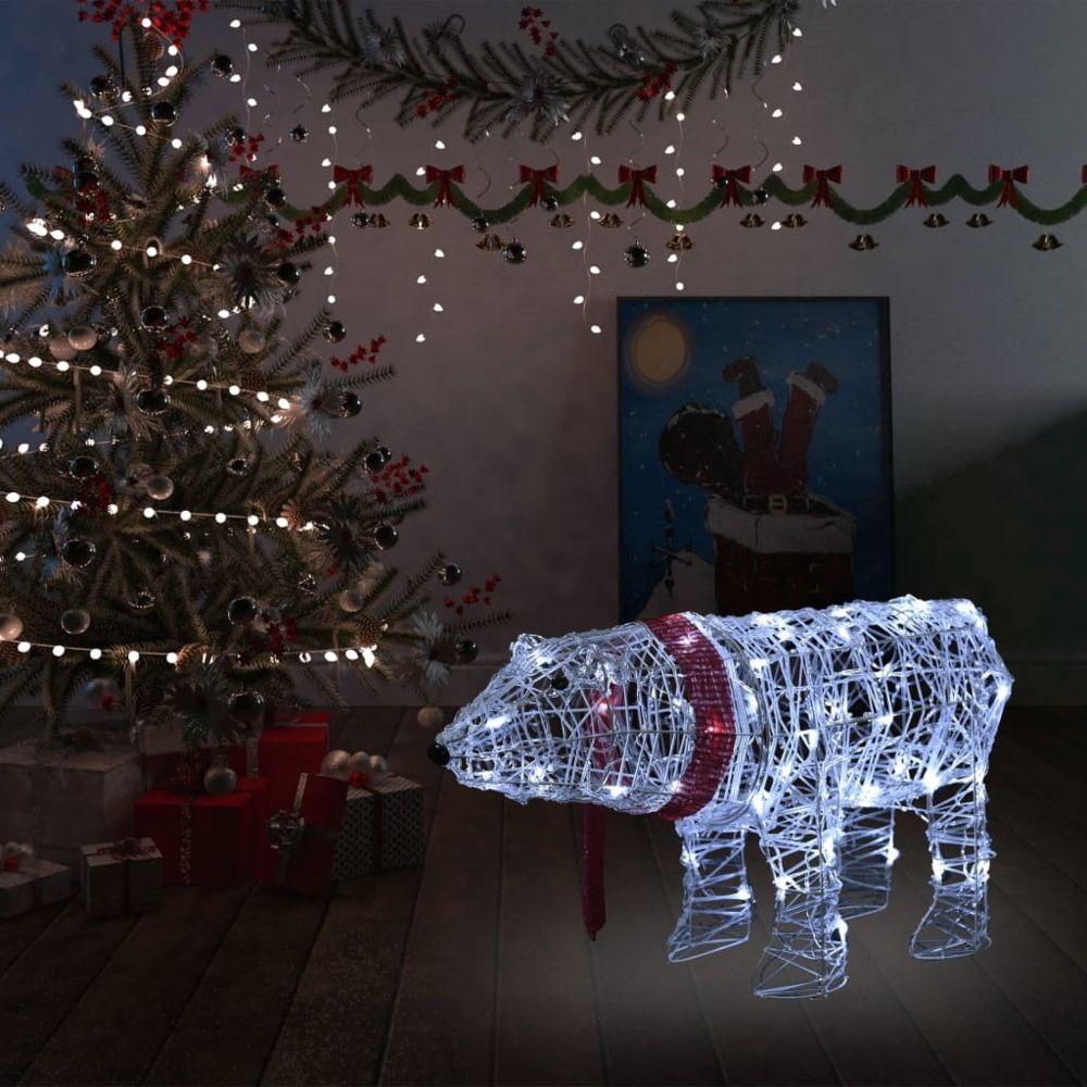 Vidaxl vidaXL Décoration lumineuse de Noël Ours 45 LED 71x20x38 cm Acrylique