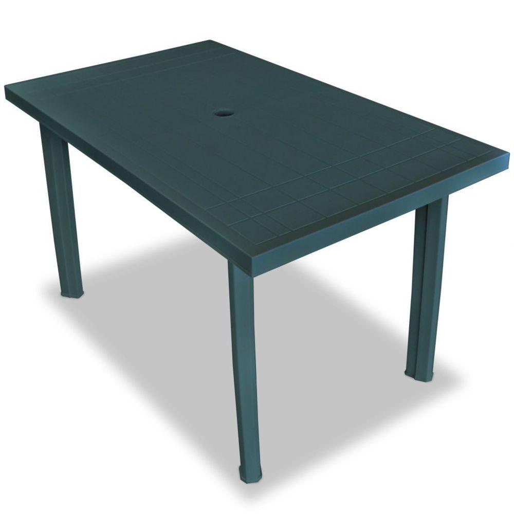 Vidaxl Table de jardin 126 x 76 x 72 cm Plastique Vert | Vert