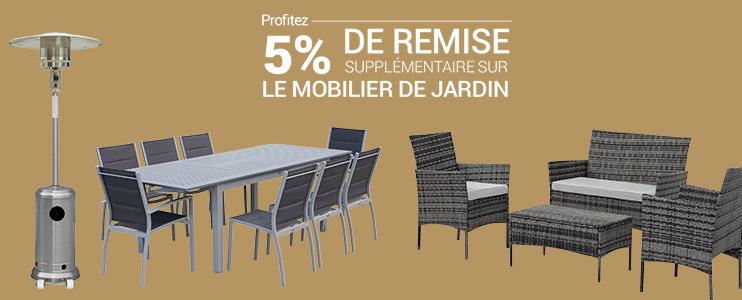 mobilier de jardin achat salon de jardin pas cher rueducommerce. Black Bedroom Furniture Sets. Home Design Ideas