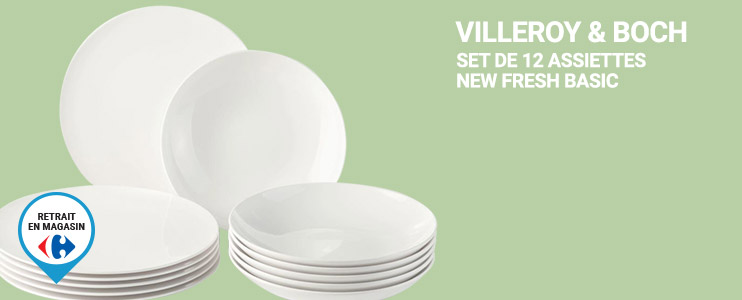Set de 12 assiettes New Fresh Basic