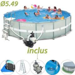 Piscine tubulaire ronde Ultra Frame 549 x 132 cm