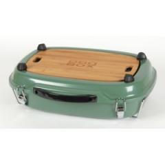 Barbecue de table au charbon de bois BBQ BOX - Vert - 303927 I NF 103
