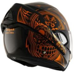 casque intégral modulable en jet Evoline 3 Mezcal Kuo moto scooter noir orange